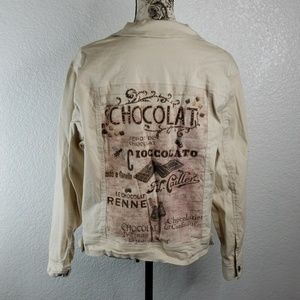 Chocolate jean jacket XL by Cactus